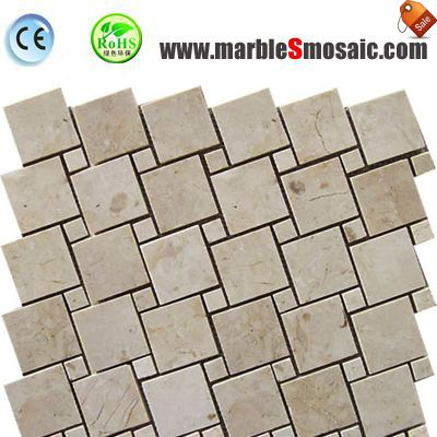 Bricks Marble Mosaic Tile Bathroom Floor