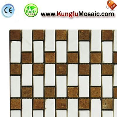 Brown Brick Marble Mosaic Floor Tile