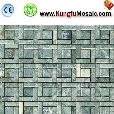 Green Marble Subway Mosaic Tile