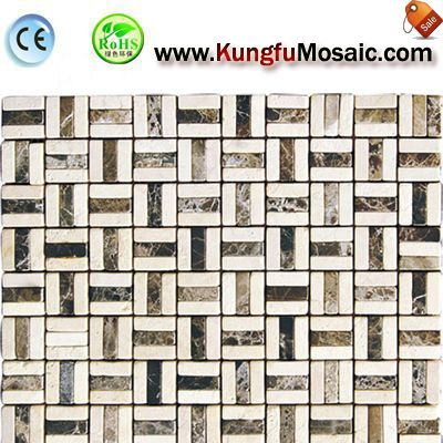 Irregular Bath Marble Mosaic Floor