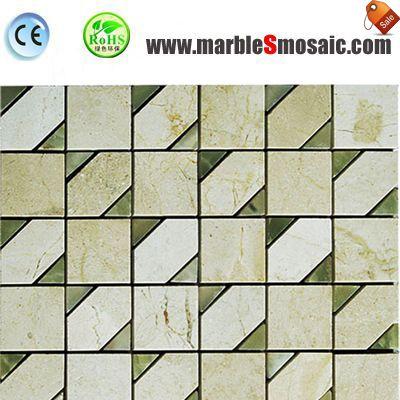 Viereckigen Stein Mosaik-Fußboden-Fliese