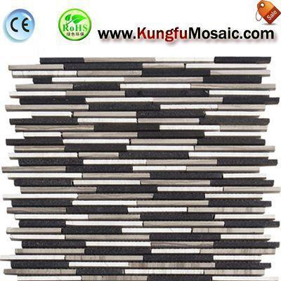 Streifen aus Marmor Mosaik Backsplash Fliesen