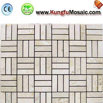 Drei Streifen Stein Mosaik-Badezimmer