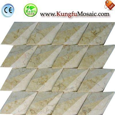 3D Diamond Galala Marble Mosaic Tile M3d0037