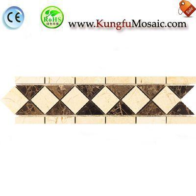 Azulejo de la frontera mosaico de pared marrón beige