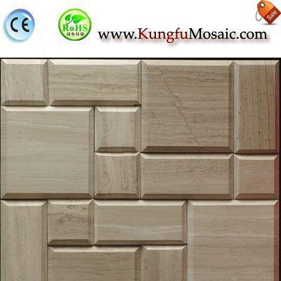Bevel Athens Brick Marble Mosaic Wall MWMS0019