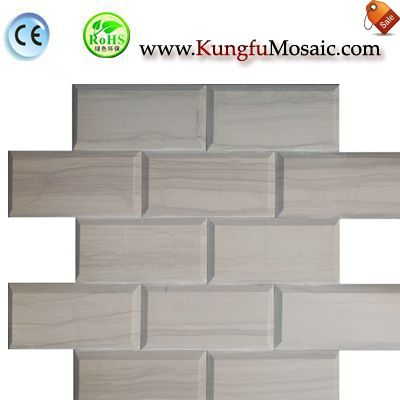 Bevel Treat Brick Wood Marble Mosaic MWMS0018