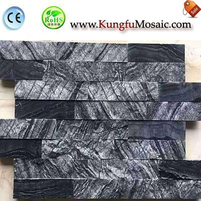 Black Wood Marble Mosaic Tile