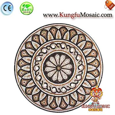 Crown Shape Round Marble Medallion