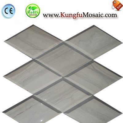 Diamond Athens Wood Marble Mosaic Panel MDIAMOND004