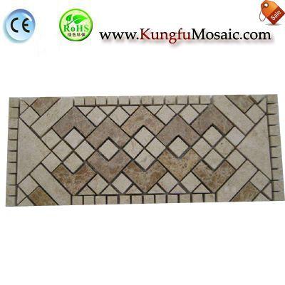 Diamond Beige Marble Mosaic Border Tile MBMT009