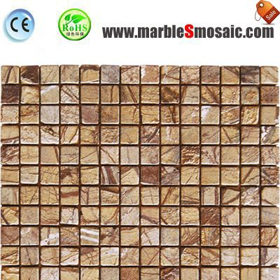 Fancy Brown Marble Mosaic Tile
