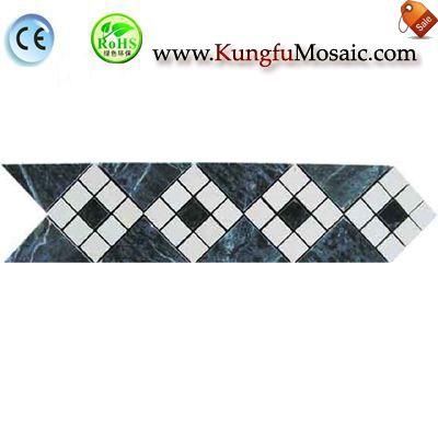 Frontera verde mármol mosaico pared