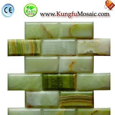 Green Onyx Bricks Stone Mosaic Tile MBR0051
