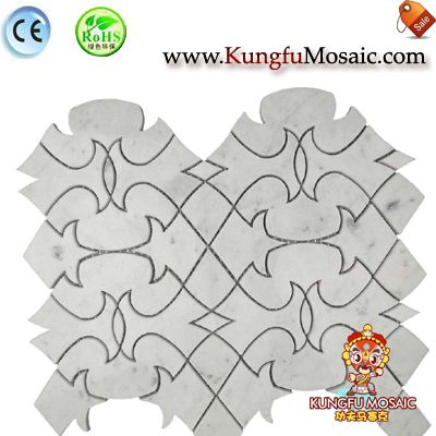 Irregular Carrara Wall Mosaic Brick