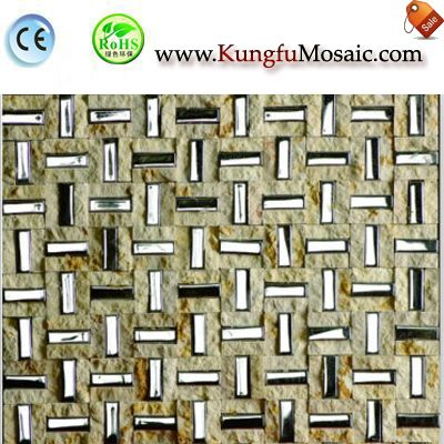 Split Marble Metal Mosaic Tiles MBM0022