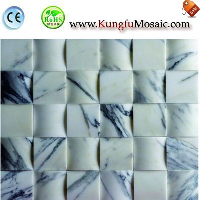 Square Bread White Marble Mosaic MWJ0040