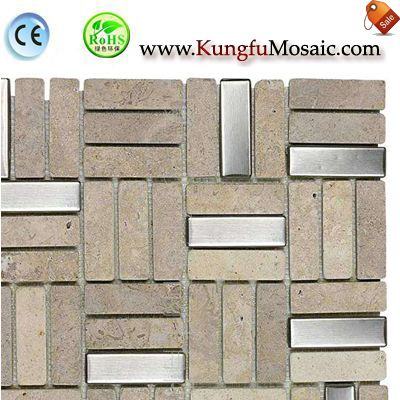 Stainless Travertine Mosaic Tiles MTRT004