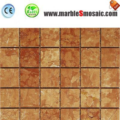 Tea Rose Marble Mosaic Bricks