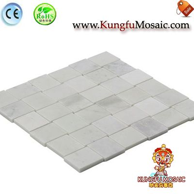 3D Twisted Square White Marble Mosaic3