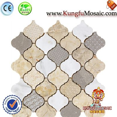 Arabesque Mosaic Marble Wall Tiles