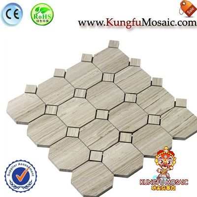 Athens Octagon Marble Mosaic Tile