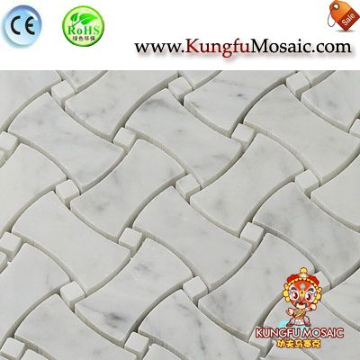 Bone Pattern Bianco Carrara Stone Mosaic