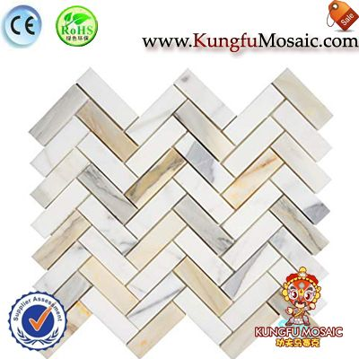 Calacatta Gold Marble Wall Mosaic Tile