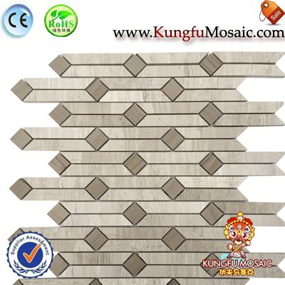 China Wooden Marble Mosaics Panel