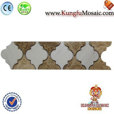 Azulejo de la frontera de mosaico de mármol