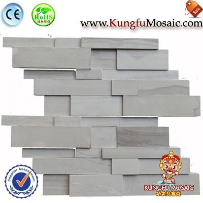 Grey Stone Mosaic Outside Wall Tiles