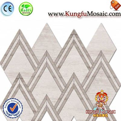 Grey Wood Vein Marble Mosaic Panels