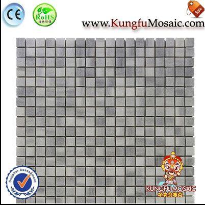 Honed Sqaure Grey Marble Mosaic Tile
