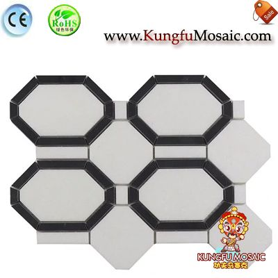 Interior Octagon White Wall Marble Mosaic
