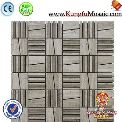 Irregular White Oak Stone Mosaic Tile