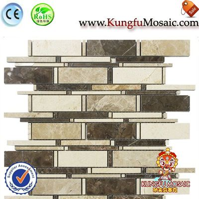 Mix Color Marble Mosaic Tile Strip