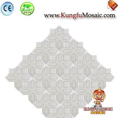 Современный интерьер Белый Мраморная мозаика Плитка