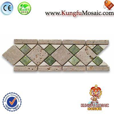 Beige Travertine Border Mosaic