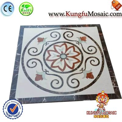 Brown Marble Water Jet Flooring Mosaic