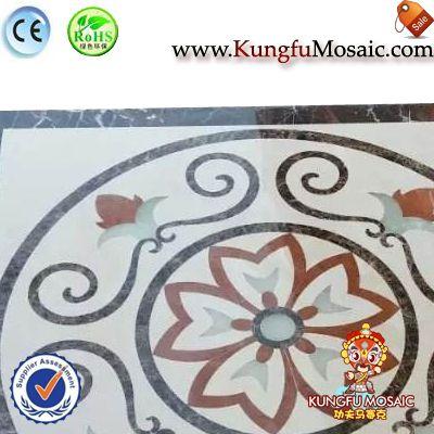 Brown Marble Water Jet Flooring Mosaic