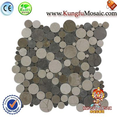 Bubble Pattern Marble Mosaic Floor Tile