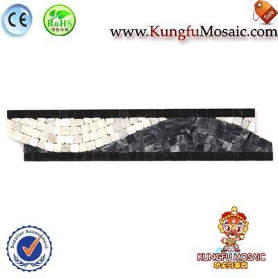 Piedra de Color oscuro la frontera baño mosaico
