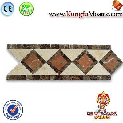 Diamond Marble Border Mosaic Wall