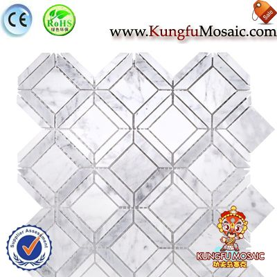 Diamond White Carrara Stone Mosaic