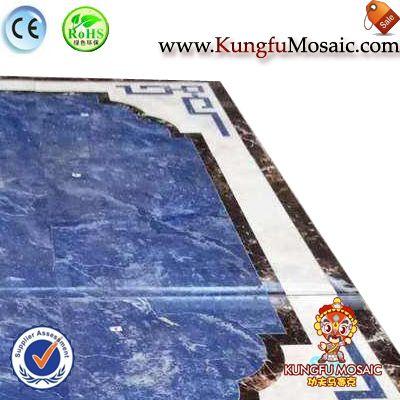 Dining Room Blue Water Jet Mosaic Floor