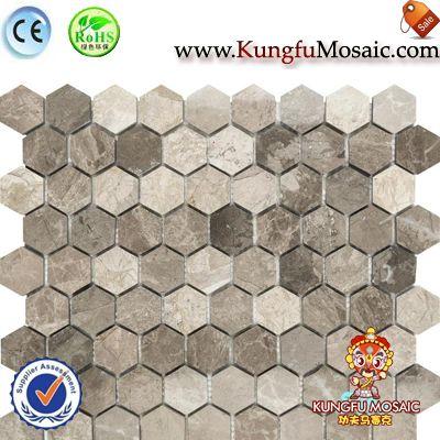 Azulejo de la pared de mármol madera mosaico de panal