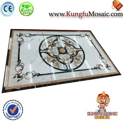 Hotel Interior Floor Marble Medallion Tiles