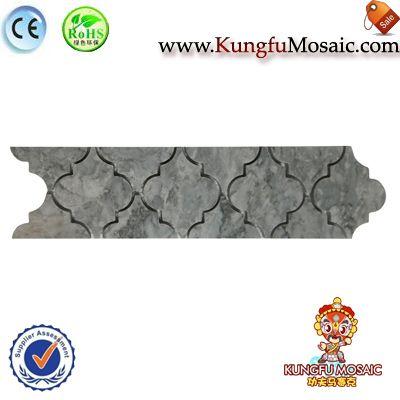 Lantern Grey Stone Border Mosaic