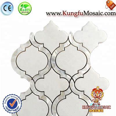 Lantern Thassos White Marble Mosaic