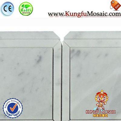 Mix Square Marble Bianco Carrara Mosaic